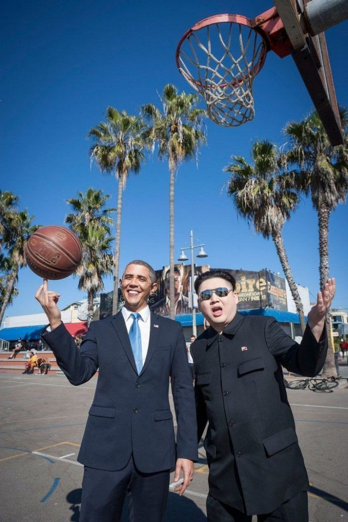 Barack Obama and Kim Jong-un Impersonators Take on Los Angeles