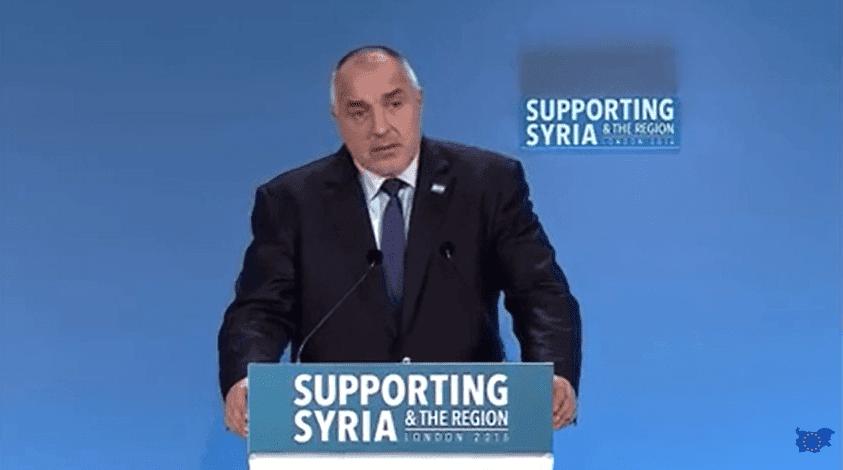 Supporting Syria and the Region & Prime Minister Boyko Borisov