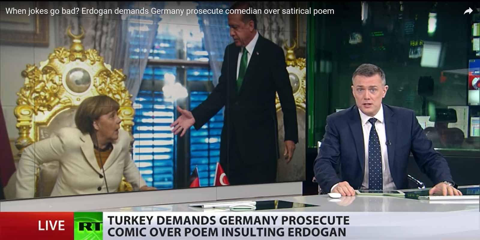 When jokes go bad? Erdogan demands Germany prosecute comedian over satirical poem
