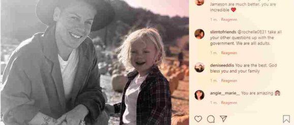 Пинк и синът ѝ Джеймисън