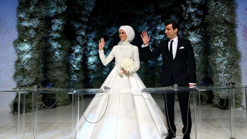 Кадър от сватбата на Сюмейе