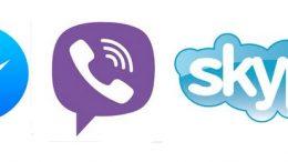 Скайп, Вайбър, УотсАп и Фейсбук.