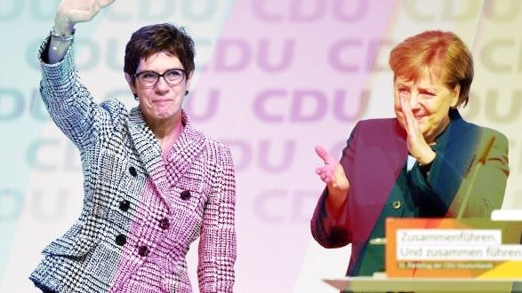 Крамп-Каренбауер - Ангела Меркел