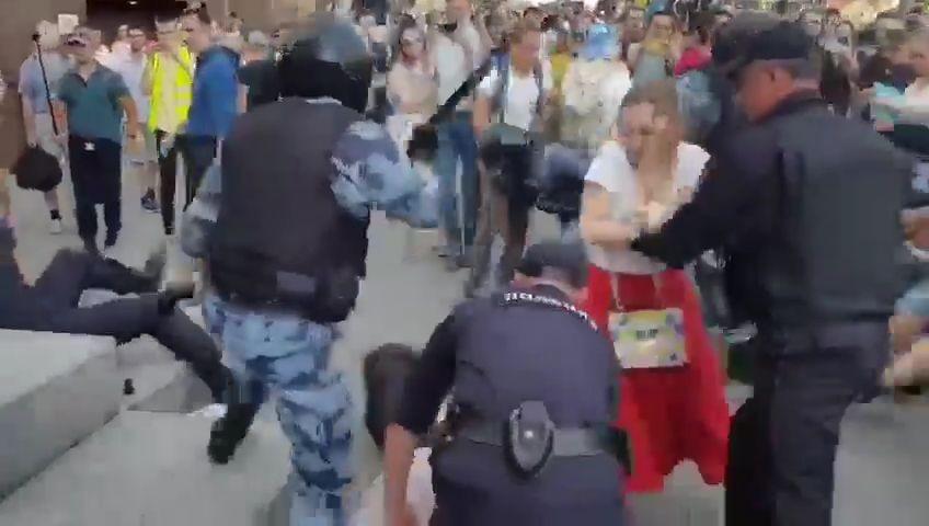 #Русия: кадри от днешния протест в Москва