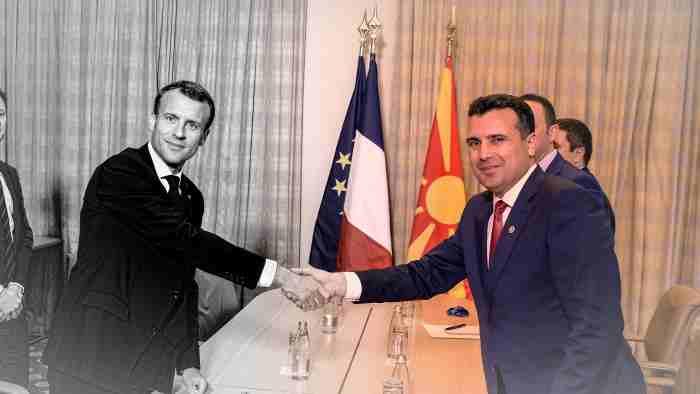 Зоран Заев и Емануел Макрон в София